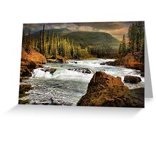 Elbow Falls Greeting Card