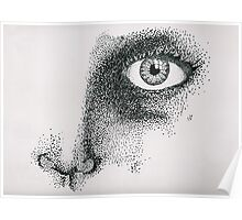 Pointillism Face Poster
