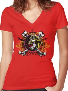 Zombie shield 2 Women's Fitted V-Neck T-Shirt
