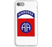 82nd Airborne Division - The All Americans Insignia iPhone Case/Skin