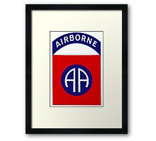82nd Airborne Division - The All Americans Insignia Framed Print