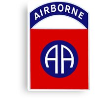 82nd Airborne Division - The All Americans Insignia Canvas Print