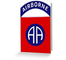 82nd Airborne Division - The All Americans Insignia Greeting Card