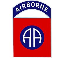 82nd Airborne Division - The All Americans Insignia Photographic Print