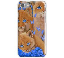 Bobcat Kittens1 iPhone Case/Skin
