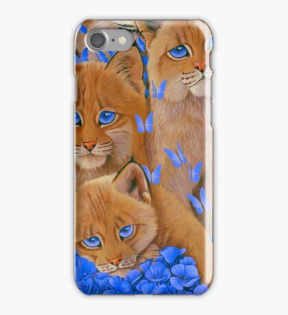 Bobcat Kittens1 iPhone Case/Skin