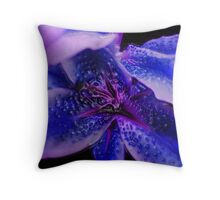 Blu Virus Throw Pillow