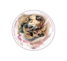 Breast Cancer Awareness-( In Dogs ) sticker Photographic Print
