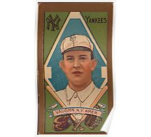 Benjamin K Edwards Collection James Vaughn New York Yankees baseball card portrait Poster