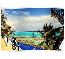 Pool & Ocean Poster