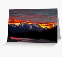 Sunrise over the Skykomish River Greeting Card