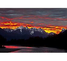 Sunrise over the Skykomish River Photographic Print