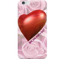 Will You Marry Me  iPhone Case/Skin