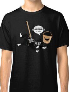 Cat Broom Mop | Geek Retro Gamer Classic T-Shirt