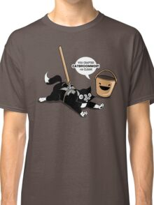 Cat Broom Mop | Geek Retro Gamer Classic T-Shirt