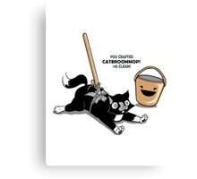 Cat Broom Mop | Geek Retro Gamer Canvas Print