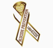 Help Prevent Another Suicide Gold Ribbon Baby Tee