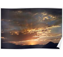 Smoky Sunset Poster