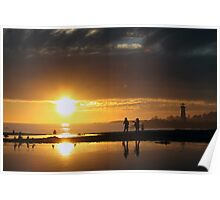 Twin Lakes Sunset Poster