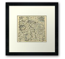 World War II Twelfth Army Group Situation Map April 8 1945 Framed Print