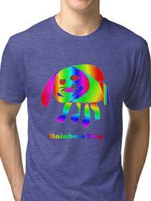 Rainbow Dog Tri-blend T-Shirt