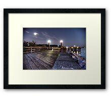 Man on the Pier Framed Print