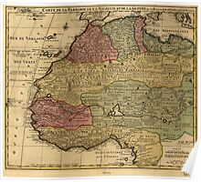 Vintage Map of West Africa (1742) Poster