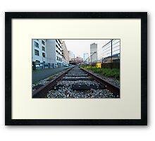 Gastown Train Tracks Framed Print