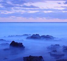 Waves amongst the Rocks by Tim Harper