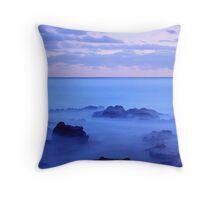 Waves amongst the Rocks Throw Pillow