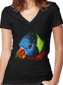 Rainbow Lorikeet Shirt Women's Fitted V-Neck T-Shirt
