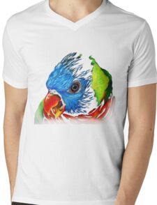 Rainbow Lorikeet Shirt Mens V-Neck T-Shirt