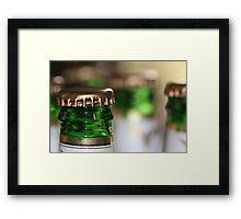 Beer Bottle Bokeh Framed Print