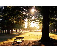 Deserted Park Photographic Print