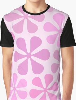 Abstract Flowers in Pinks Graphic T-Shirt
