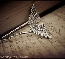 Gothic Angel Wing Hair Pins by SKAIOR Designs
