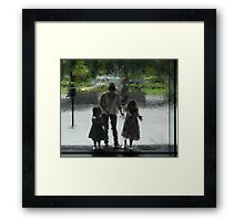 Through the Water Wall Framed Print
