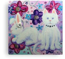 Bunny and Cat Canvas Print