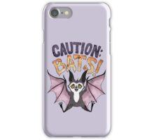 Caution: Bats! iPhone Case/Skin