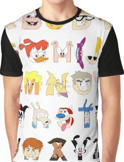 Child of the 90s Alphabet Graphic T-Shirt