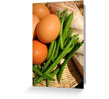 Country Basket Greeting Card
