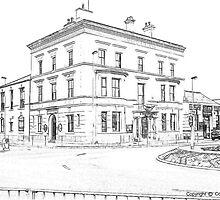 Custom House sketch by Colin Bentham