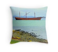 Wreck of the Lady Elizabeth, Falkland Islands Throw Pillow