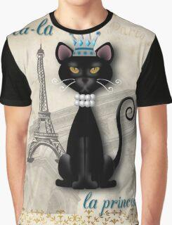 Oo-la-la, the French Princess Kitty Graphic T-Shirt