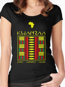 Kwanzaa Textile Women's Fitted Scoop T-Shirt