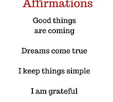Positive Affirmations List by IdeasForArtists
