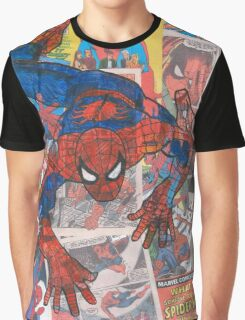 Vintage Comic Spiderman Graphic T-Shirt