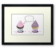 two cupcakes Framed Print