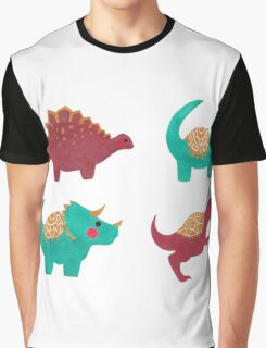 The Dinosaurs Pattern Graphic T-Shirt