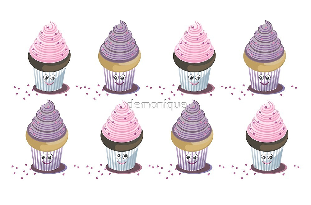 eight cupcakes by demonique